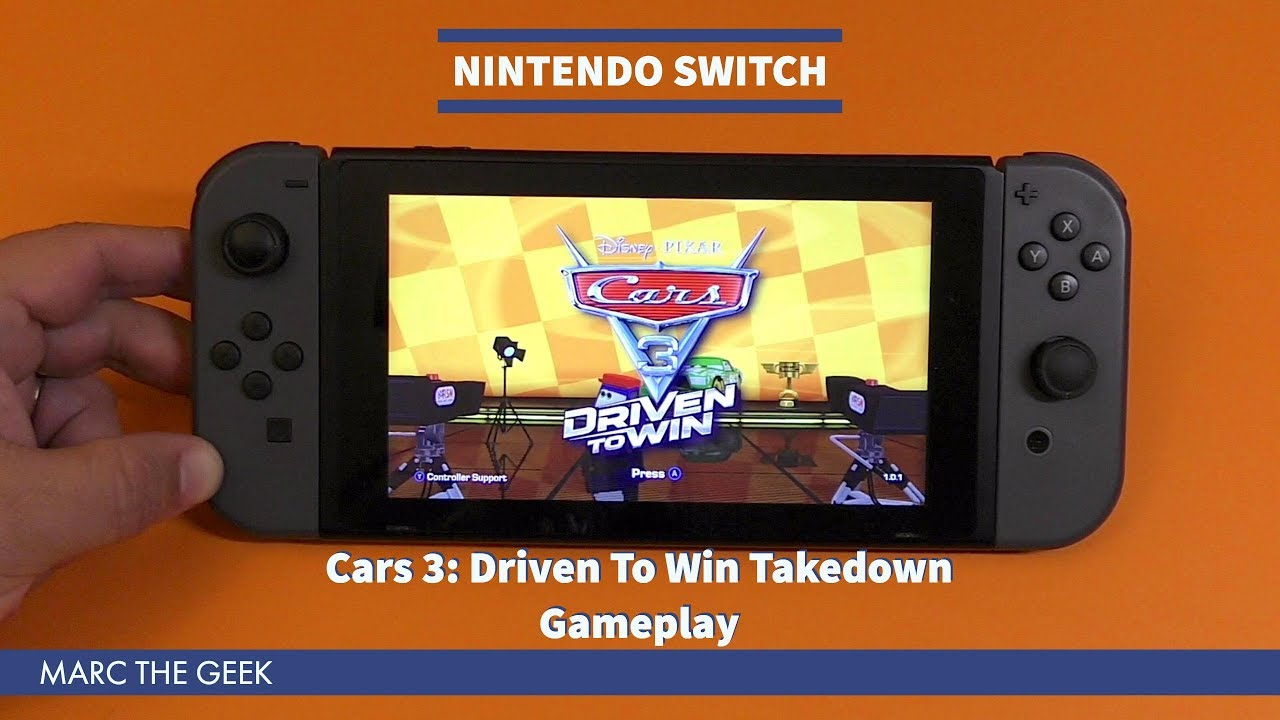 Nintendo Switch Cars 3 Driven To Win Takedown Gameplay