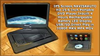 IPS Screen NAVISKAUTO HD 15.6 Inch Portable DVD Player