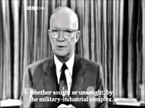 US President Eisenhower's farewell warning on the military-industrial complex