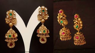 Gold Jhumka And Ear Top Designs 2019