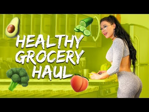 HEALTHY GROCERY SHOPPING HAUL w/ a BIKINI & PHYSIQUE COMPETITOR | Ashley Kaltwasser thumbnail