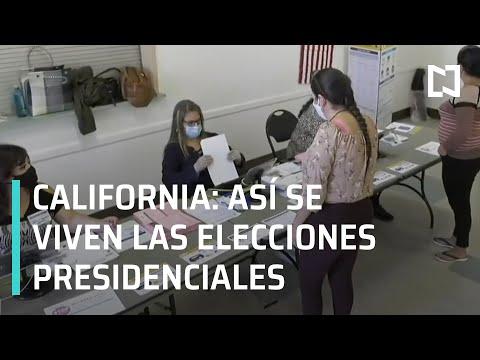 Así se vive la elección presidencial de Estados Unidos 2020 en California - Las Noticias