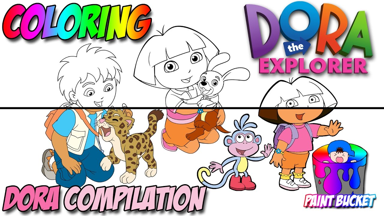 Dora The Explorer Coloring Pages Compilation For Kids