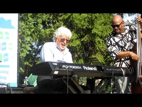 Monty Alexander, Christian McBride and Ulysses Owens at at the Montclair Jazz Festival