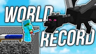 Minecraft BED WARS WORLD RECORD... ( KILLING 5+ DRAGONS )