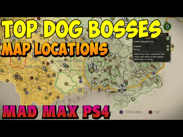 Mad Max – Top Dog Boss Locations – FragThePlanet