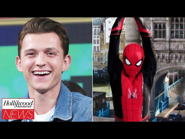 Next 'Spider-Man' Movie Title Revealed As Tom Holland Talks Cameo Rumors | THR News