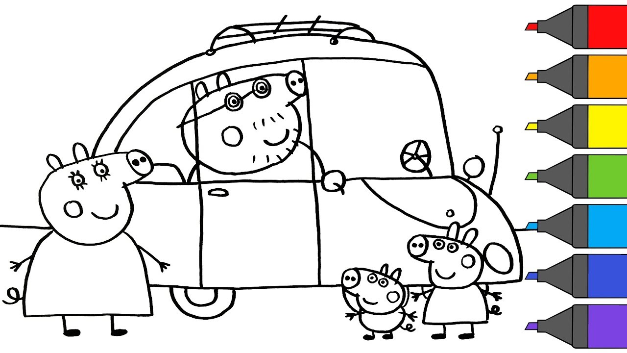 It's just a photo of Exhilarating Printable Peppa Pig Coloring Pages