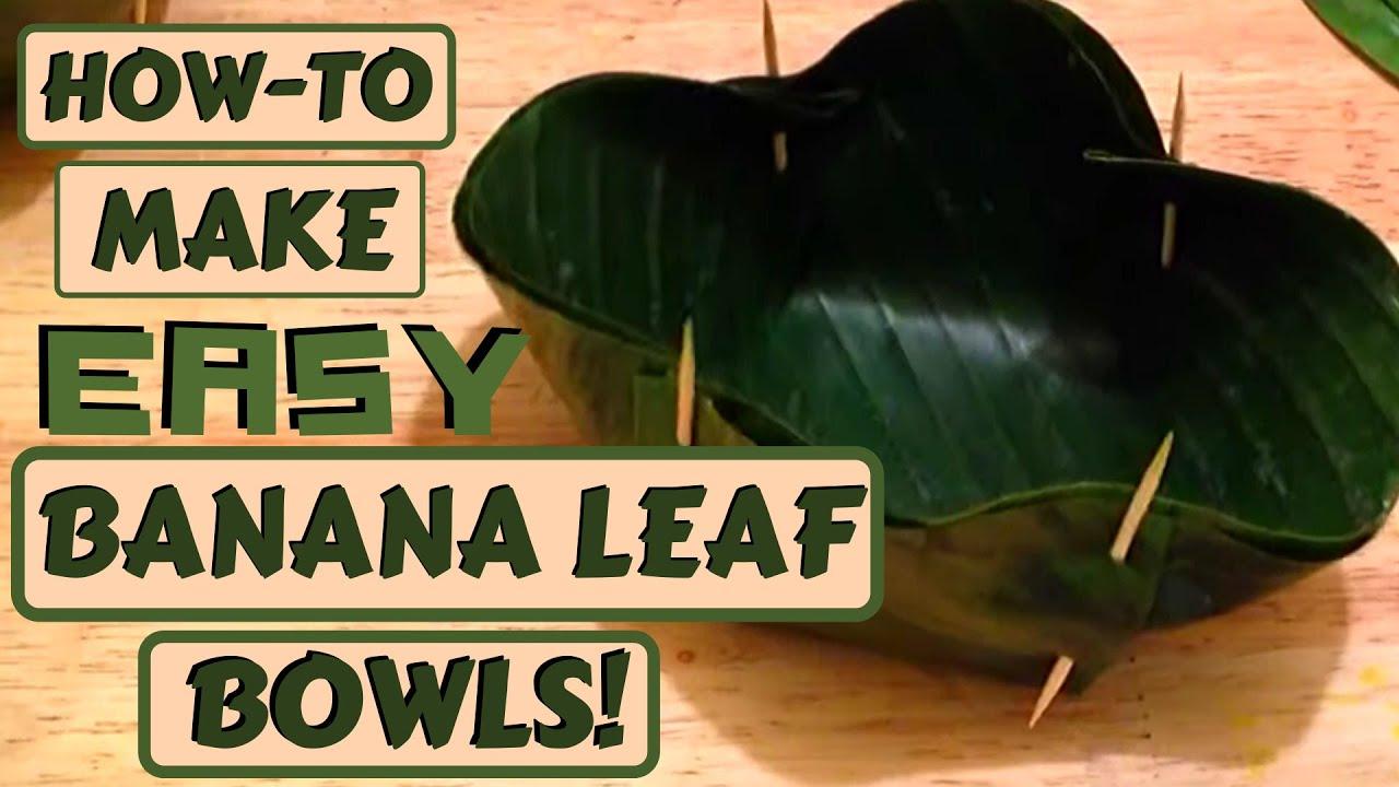 How To Weave A Basket From Banana Leaves : Banana leaf basket