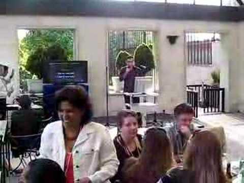 Augusto Cabrera in Karaoke in US Embassy in Madrid