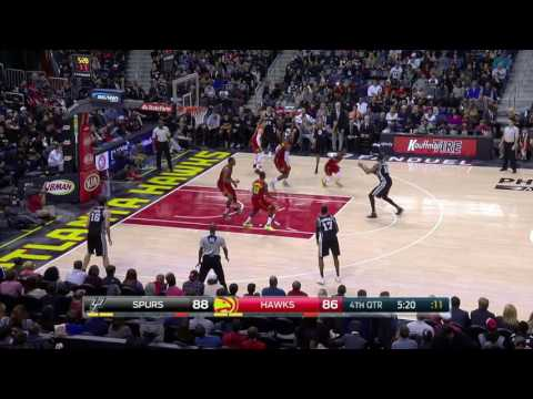 San Antonio Spurs vs Atlanta Hawks | January 1, 2017 | NBA 2016-17 Season