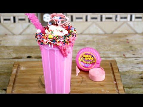 How To Make Bubble Gum Milkshake   Bubblegum Freakshake