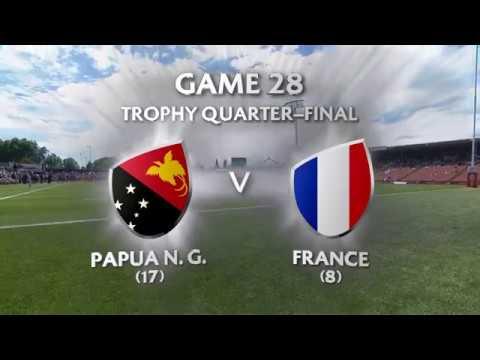 PNG v FRANCE I Trophy QF I HSBC World Rugby 7S Series-2018 Hamilton