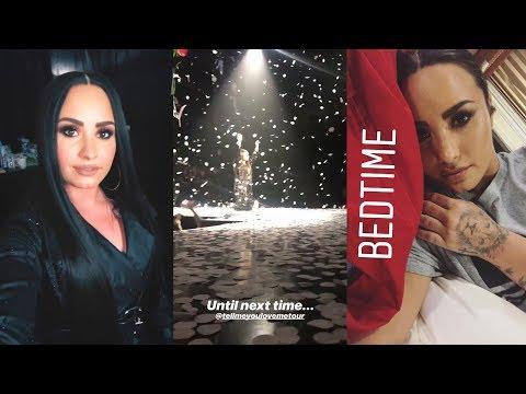 Demi Lovato  Snapchat Story  10 March 2018 TellMeYouLoveMeTour