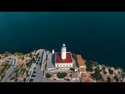 мыс Форментор, остров Майорка, Испания с квадрокоптера