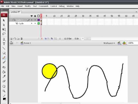 การสร้างภาพเคลื่อนไหวแบบ Motion Guide