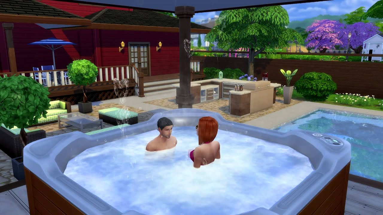 The Sims 4 Perfect Patio Stuff: Hot Tub WooHoo - YouTube