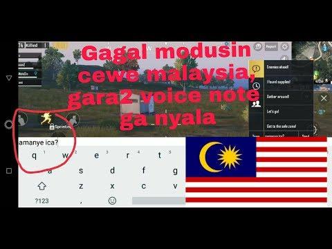 Modusin Cewek MALAYSIA, Tapi Gagal... Karena Voice Chat Mati - PUBG Mobile