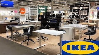 IKEA DESKS TABLES CHAIRS WORKSPACE FURNITURE - SHOP WITH ME SHOPPING STORE WALK THROUGH 4K