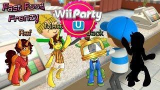 Wii Party U w/ Jack & Co. - Fast Food Frenzy