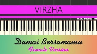 Virzha - Damai Bersamamu FEMALE Karaoke Acoustic by regis