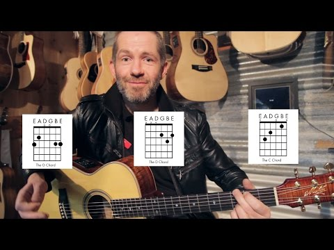 How to play G, C & D chords on Guitar
