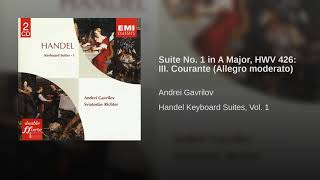 Handel: Suite No  1 in A Major, HWV 426  III  Courante Allegro moderato