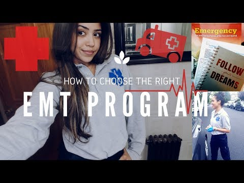 How To Choose An EMT Program! THINGS TO KEEP IN MIND💡🚑!