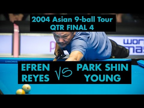 Efren REYES vs Park SHIN YOUNG - QF 2004 Asian 9-ball Tour