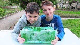 Minecraft Dev Buz Kütlesi Donmuş Oyuncakları Çıkarıyoruz