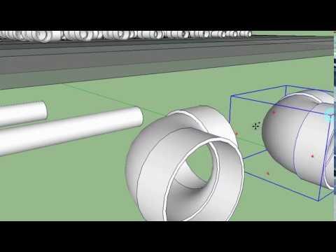 how to design pipe in google sketchup (cara buat rak ...