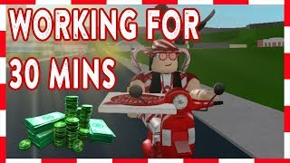 ROBLOX | Welcome To Bloxburg: Working at Pizza Delivery for 30 Minutes!