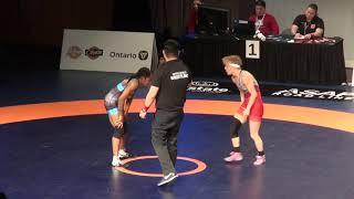 2019 Canadian Trials WW50kg Baily Agard (York) vs Natasha Fox (Sask)