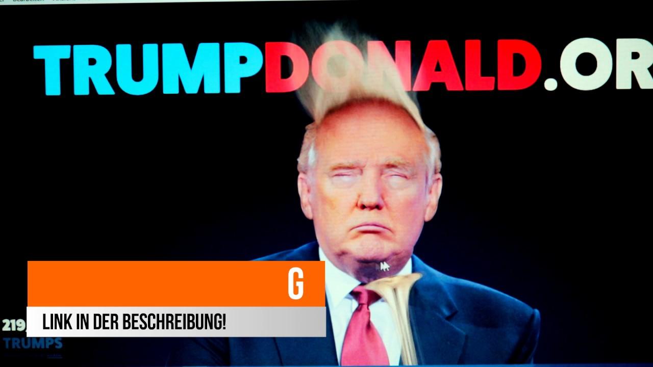 Donald Trump S Frisur Herum Troten Mit Einer Trompete Youtube