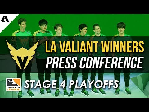 LA Valiant Overwatch League Stage 4 Winners Press Conference