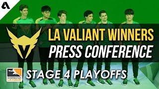 LA Valiant Overwatch League Stage 4 Winners Press Conference