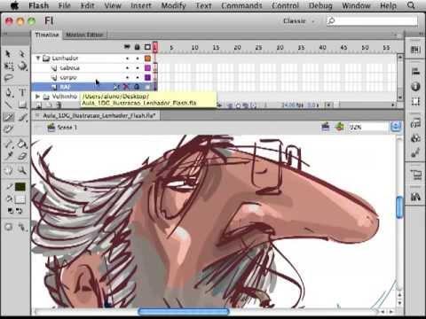 Ilustração Básica em Flash por Laqua