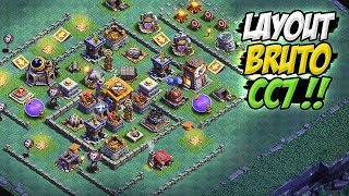LAYOUT BRUTO PARA CC7 / BH7 - CLASH OF CLANS - BASE DO CONSTRUTOR !!