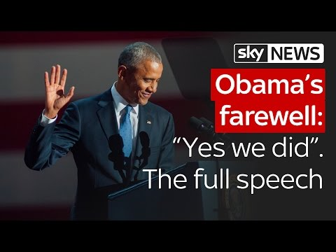 "Barack Obama's farewell: ""Yes we did."" The speech in full"