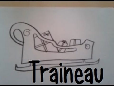 Dessiner un traineau de noel youtube - Dessiner noel ...