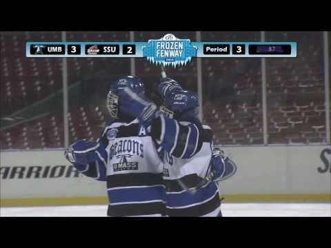 UMass Boston Men's Hockey Frozen Fenway Vs. Salem State Highlights (1/7/14)
