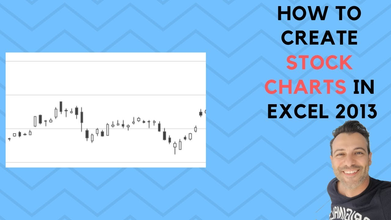 how to create stock charts in excel 2013 youtube
