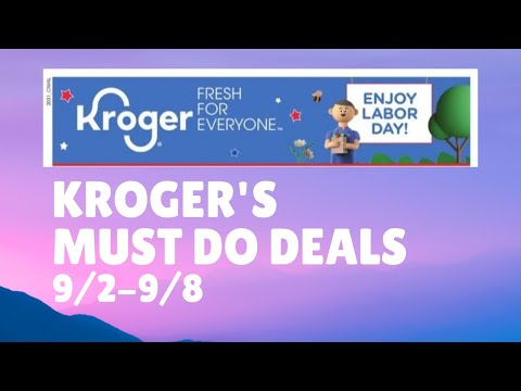 Kroger *MUST DO* Deals | 9/2-9/8 | Weekly Digital Sale & MORE