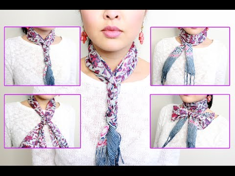 HOW TO: Tie A Neck Scarf IN 5 MINUTES! - YouTube