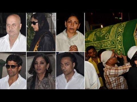 Farooq Sheikh's FUNERAL: Deepti Naval, Farhan, Tabu ATTEND