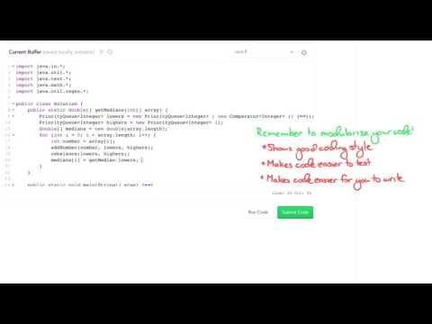 Data Structures: Solve 'Find the Running Median' Using Heaps