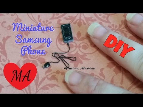MINIATURE Samsung S5 phone TUTORIAL // DIY // Dollhouse