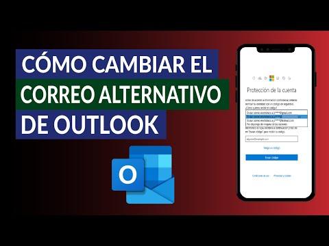 Cómo Cambiar el Correo Alternativo o de Recuperación de Outlook - Hotmail