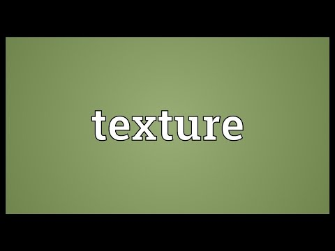 Texture Meaning