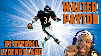 95 overall walter payton legends card lets beast playlist youtube - Walter payton madden 15 ...